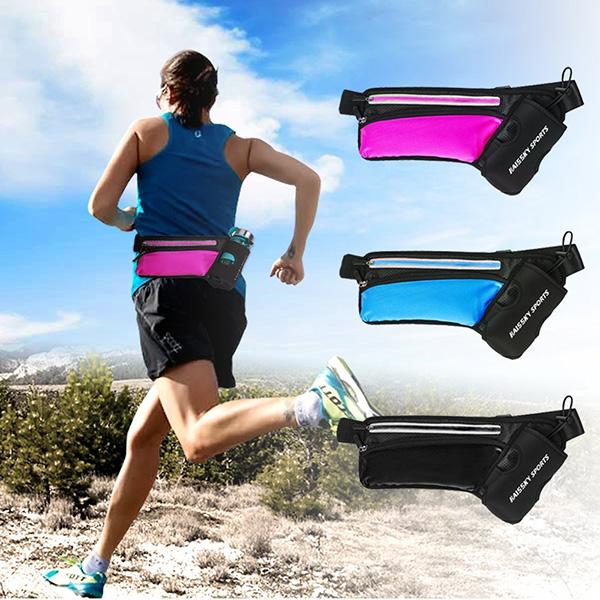 Cintura running con porta bottiglia d'acqua