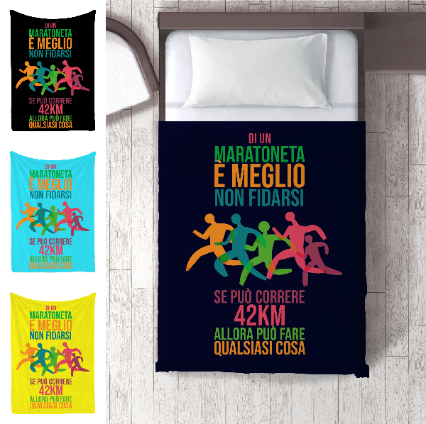 plai maratoneta divertente coperta runner