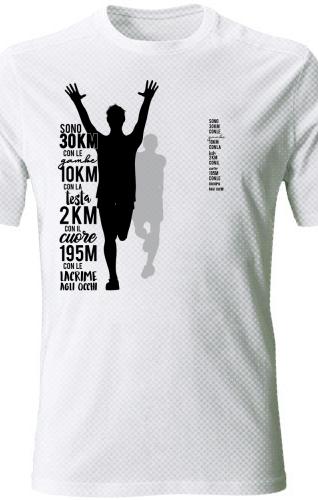 Maglietta running tecnica divertente maratona